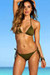 Surfside Solid Olive Triangle Top Single Rise Sexy Scrunch Bun® Bikini