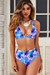 South Beach Palm Adjustable Halter Top & South Beach Palm Full Coverage High Waist Bottom