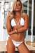 Beach Rose White Bikini Top & Hibiscus White Bikini Bottom