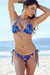 Surfside Sexy Midnight Tropical Print Triangle Top Single Rise Scrunch Bun® Bikini
