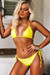 Neon Yellow Triangle Top & Neon Yellow Full Coverage Scrunch Bottom
