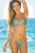 Seychelles Royal & Gold Sparkly Mermaid Bikini Top & Single Rise Scrunch Bottoms