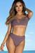 Dusty Lilac Plumeria Bikini Top & Dusty Lilac Ambrosia Bikini Bottoms