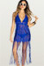 Sweet Dream Royal Lace Fringe Halter Beach Dress Cover Up
