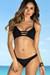 Black Eden Rose Bikini Top & Black Wildflower Bikini Bottoms