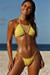 Amaryllis Yellow Crochet Bandeau Halter Top & Micro Scrunch Bottom Bikini