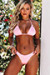 Baby Pink Triangle Top & Baby Pink Banded Brazilian Thong Bottom