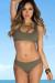 Taupe Morning Glory Bikini Top & Taupe Marigold Bikini Bottoms