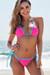 Pink Polka Dot & Aqua Triangle Bikini Top & Pink Polk Dot & Aqua Classic Bikini Bottom