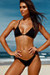 Malibu Solid Black Triangle Top Double Rise Scrunch Up® Sexy Swimwear