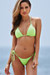 Neon Green Triangle Top & Neon Green G-String Thong Bottom
