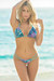 Tahiti Reversible Aqua & Fantasy Print Sexy Micro Bikini Swimsuit