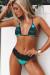 Jade & Black Lace Maui Bikini Top & Maui Bikini Bottom