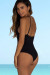 Chamomile Black Plunging Crisscross Cut Out One Piece