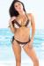 Martinique Sexy Blush & Black Eyelash Lace Triangle Top & Classic Scrunch Bottom Bikini
