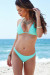 Mint Triangle Top & Mint Banded Brazilian Thong Bottom