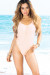 Palmetto Blush Spaghetti Strap High Cut One Piece Swimsuit