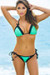Paris Mint Green & Black Triangle Top Scrunch Bottom Sexy Lace Bikini Swimsuit