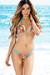 Tahiti Reversible Micro Aqua & Wild Tropical Print Bikini