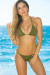 Oahu Bikini on a Chain™ Olive Triangle Top & Classic Scrunch Bottom