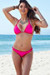 Ibiza Brazilian Cut Solid Hot Pink Triangle Top Sexy Thong Bikini