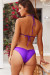 Purple Triangle Top & Purple Banded Classic Scrunch Bottom
