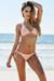 Vegas Blush Triangle Top Single Rise Scrunch Bun® Sexy Sequin Bikini