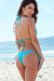 Acapulco Aqua Cheeky Micro Scrunch Bun® Bottoms & Triangle Top Bikini