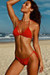 Lemongrass Red Bikini Top & Hibiscus Red Bikini Bottom