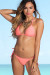 Palm Beach Sexy Solid Salmon Triangle Top Thong String Bikini
