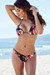 Ibiza Brazilian Cut Rose Garden Print Triangle Top Sexy Thong Bikini