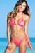 Surfside Sexy Neon Coral & Gold Duchess Print Triangle Top Single Rise Scrunch Bun® Bikini