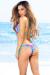 Lima Sexy Fuchsia Floral Print & Aqua Triangle & Single Rise Scrunch Bun® Swimsuit