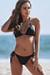 Black Triangle Bikini Top & Black Full Coverage Scrunch Bottom