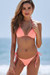 Salmon Triangle Bikini Top & Salmon Brazilian Thong Bottom
