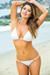 Brazil Bikini on a Chain™ Sexy White Triangle Top & Micro Scrunch Bottom