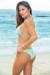 Laguna Solid Mint Green Triangle Bikini Top & Single Rise Scrunch Bottom Swimsuit