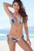 Surfside Sexy Watercolor Palm Tree Print Triangle Top Single Rise Scrunch Bun® Bikini