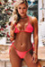 Neon Coral Triangle Top & Neon Coral G-String Thong Bottom