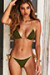 Olive & Gold Triangle Top & Olive & Gold Classic Scrunch Bottom