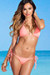 Acapulco Salmon Cheeky Micro Scrunch Bun® Bottoms & Triangle Top Bikini