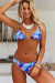 South Beach Palm Triangle Top & South Beach Palm Banded Classic Scrunch Bottom