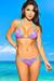 Belize Reversible Swimwear Aqua & Fuchsia Lace Sexy Single Rise Bikini