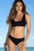 Black Morning Glory Bikini Top & Black Marigold Bikini Bottoms