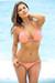 Brazil Bikini on a Chain™ Sexy Salmon Triangle Top & Micro Scrunch Bottom