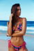 Midnight Hibiscus & Fuchsia Triangle Top & Midnight Hibiscus & Fuchsia Classic Bikini Bottom