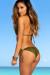 Surfside Solid Olive Triangle Top Single Rise Sexy Scrunch Bun® Bikini