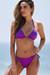 Purple Triangle Top & Purple Full Coverage Scrunch Bottom