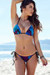 Acapulco Dreamcatcher Feather Print Cheeky Micro Scrunch Bottoms & Triangle Top Bikini