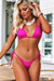 Fuchsia Triangle Top & Fuchsia Brazilian Thong Bottom